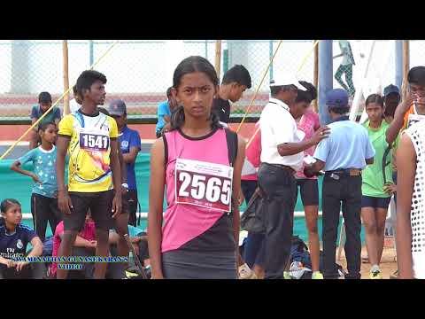 GIRLS U14  100m  RUN FINAL. 60Th TAMIL NADU STATE REPUBLIC DAY SPORTS MEET  - 2017-18
