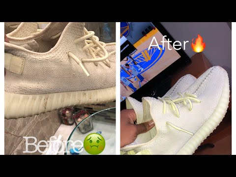 HOW TO CLEAN YEEZY 350 BUTTERS 🤯🔥‼️