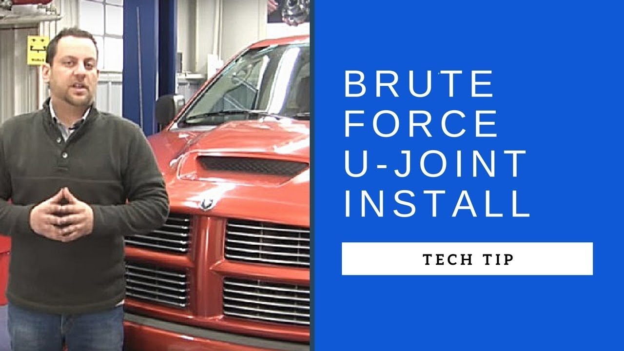 SKF Brute Force U-joint Installation