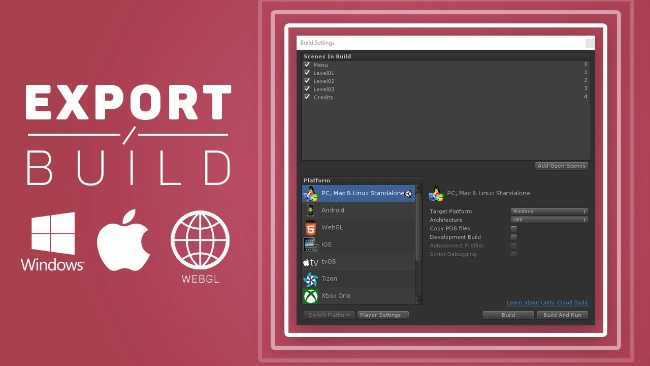 How to BUILD / EXPORT your Game in Unity (Windows | Mac | WebGL)
