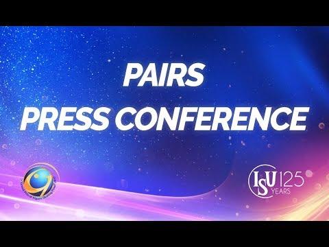 Senior Pairs Short Program Press Conference- ISU  GPF 2017