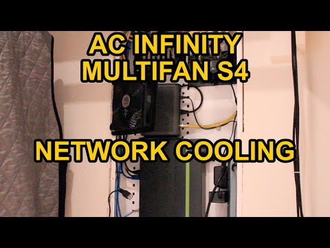 AC Infinity MULTIFAN S4 - Network Equipment Cooling