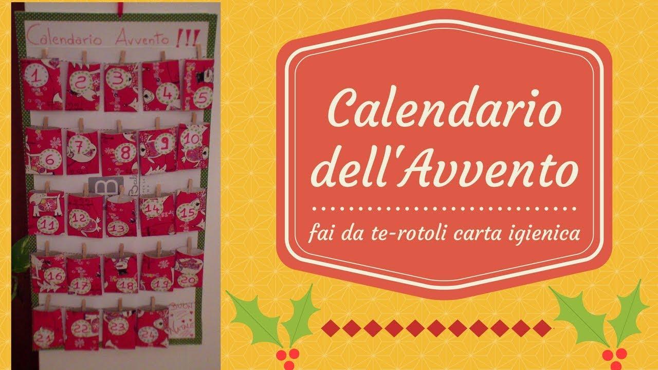 Calendario Avvento Con Rotoli Carta Igienica.Calendario Dell Avvento Fai Da Te Riciclo Creativo Con Rotoli Di Carta Igienica