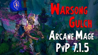 Arcane Mage in Warsong Gulch (Legion BG PVP 7.1.5)