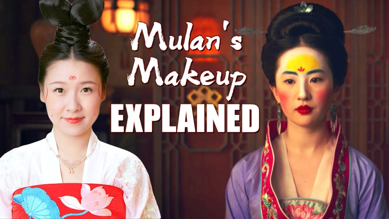 Disney Mulan S Makeup Explained Traditional Chinese Makeup Youtube