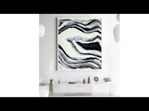 Geode wall art epoxy resin fluid pouring DIY tutorial for beginners