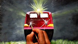 How to draw train || WAP4 idling in Night with lights ON || Painting