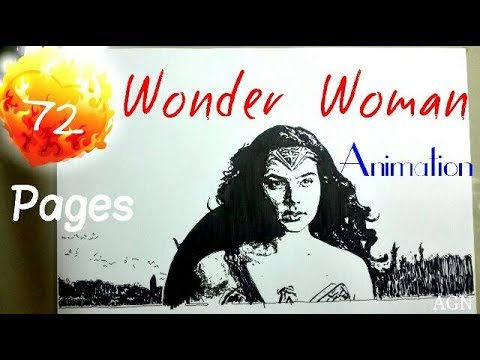 Wonder Woman | Gal Gadot - Animation Drawing | AGN
