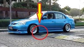 АВТО ПРИКОЛЫ! ЗАНИЖЕННЫЕ ТАЧКИ! Видео подборка из жизни заниженных автомобилей!