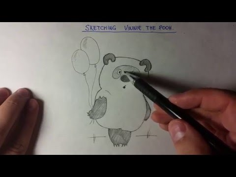 Рисунки карандашом. Как нарисовать Винни-Пуха поэтапно.Sketching Vinnie the Pooh step by step.