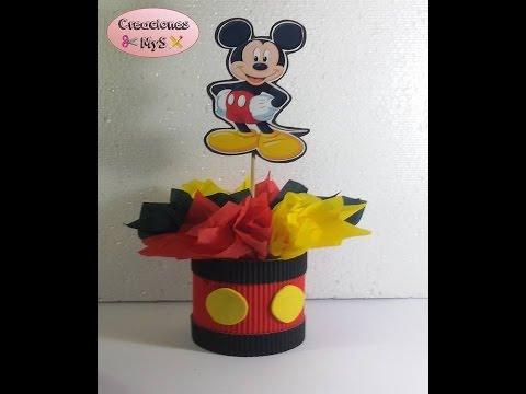 Centro de mesa mickey mouse para cumpleaños