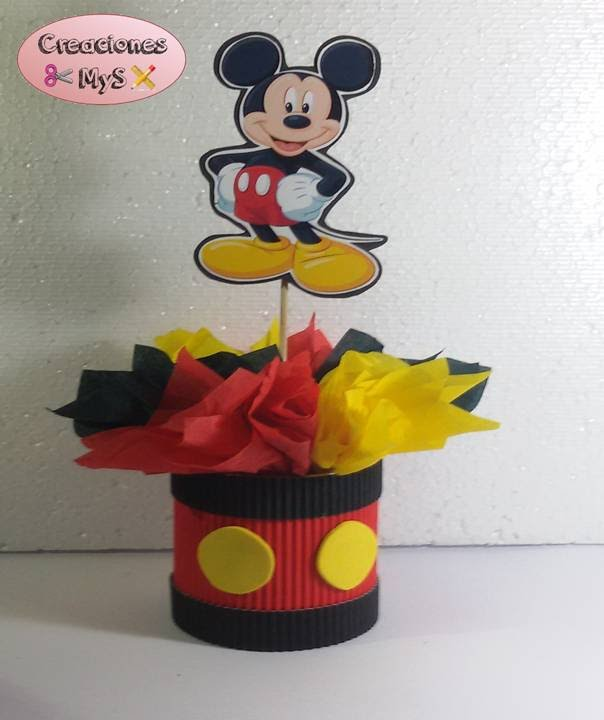 Centro de mesa mickey mouse para cumplea os youtube for Mesa de cumpleanos de mickey