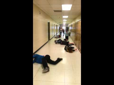 Oelwein middle school hallway swim