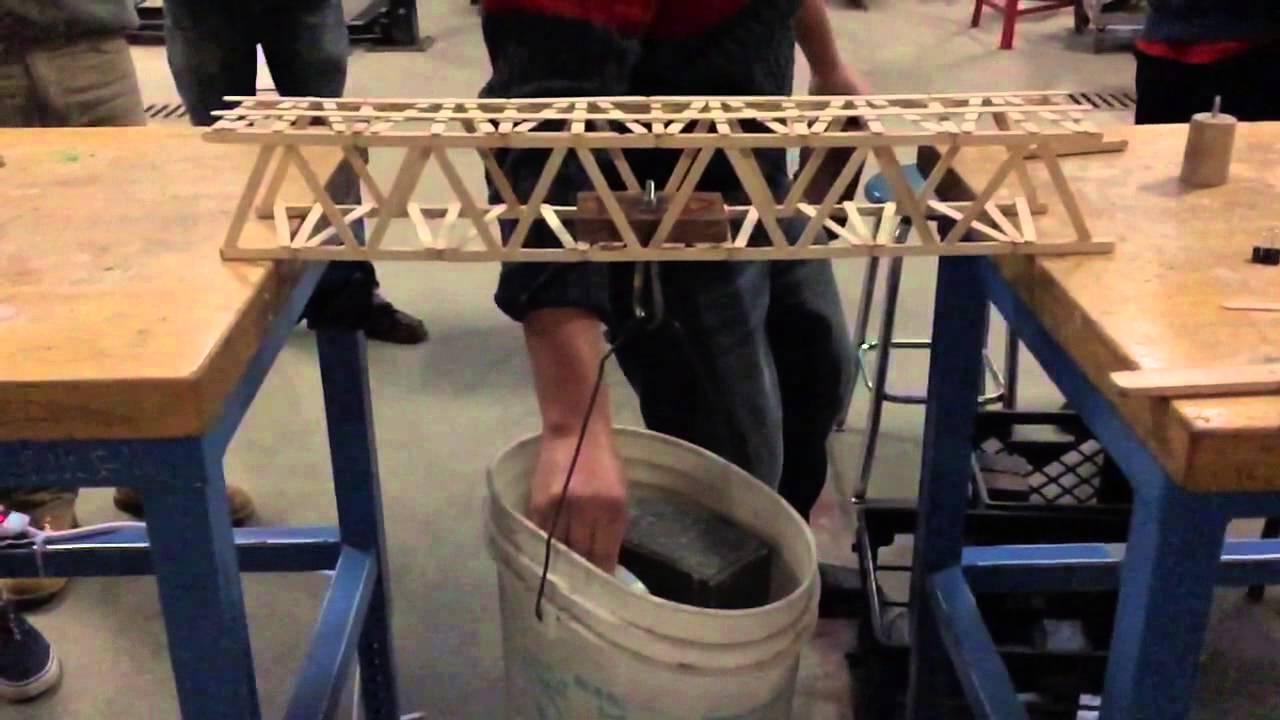 Legendary Popsicle Stick Bridge Made With Homemade Glue