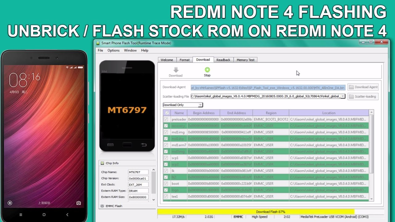 FLASH REDMI NOTE 4 | UNBRICK/FLASH STOCK ROM ON REDMI NOTE 4
