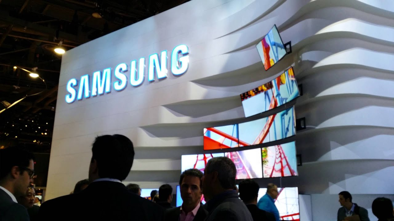 Exhibition Stand For Tv : Samsung uhd curved tv wall ces youtube