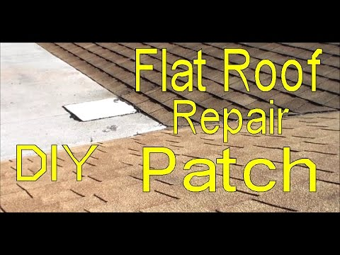 Patching A Flat Roof   Flat Roof Repair Do It Yourself