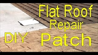 Patching A Flat Roof - Flat Roof Repair Do It Yourself