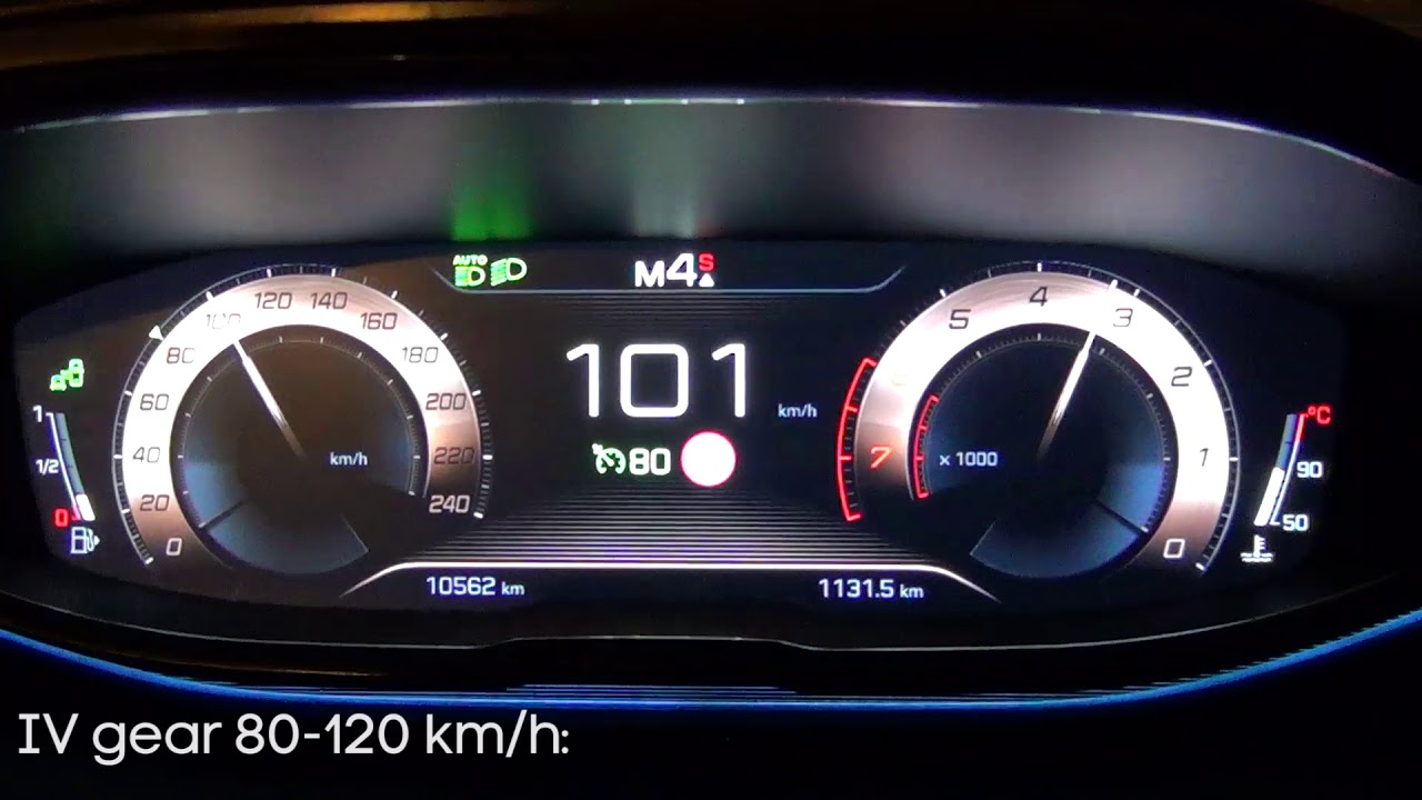 2017 Peugeot 5008 1 6 Thp 165 Km Eat6 - Acceleration 80-120 Km/H  Rwd Pb  01:39 HD