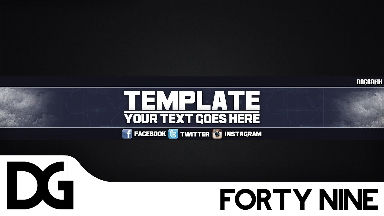 Cool channel art template 49 free photoshop download for Cool youtube channel art templates