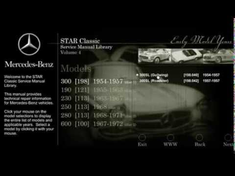 mercedes benz star classic service manual library volume 4 - youtube