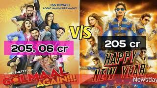 Golmaal Again VS Happy New Year Rohit Shetty Beats Shah Rukh Khan