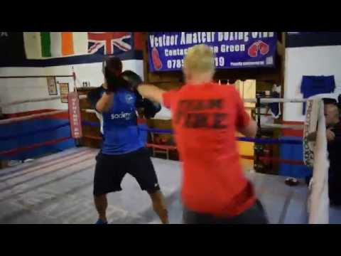 Scott Sampson v Joe Butchers, Blue Light Fight Night 2016 Training