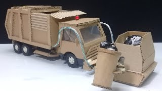 How to make RC Garbage Truck - Amazing from Cardboard DIY