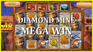 MY BIGGEST WIN ON DIAMOND MINE (SO FAR) - 5€ BET!!