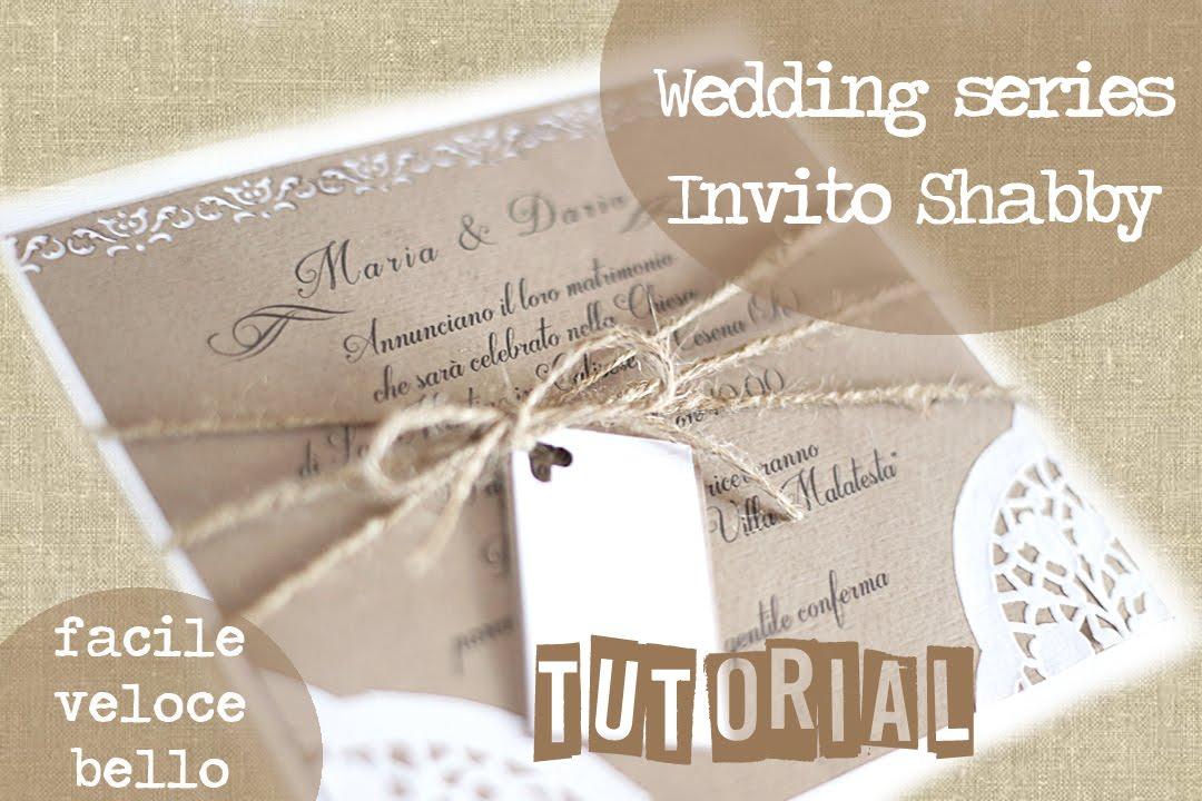 Molto Partecipazione/invito shabby di nozze - Wedding invitations shabby  BR19