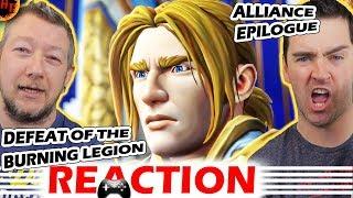 WOW Reaction! Defeat of the Burning Legion Alliance Epilogue