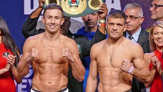 'GGG' Gennady Golovkin vs. Sergiy Derevyanchenko FULL WEIGH IN & FINAL FACE OFF | Matchroom Boxing