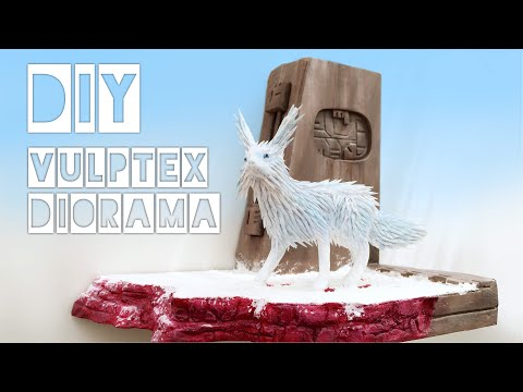 How to make a Vulptex Crystal fox Diorama from Star Wars VIII The Last Jedi!