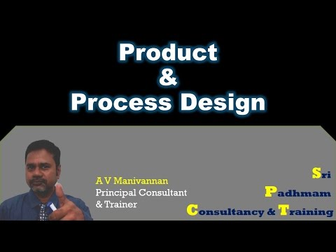 Product & Process Design by A V Manivannan
