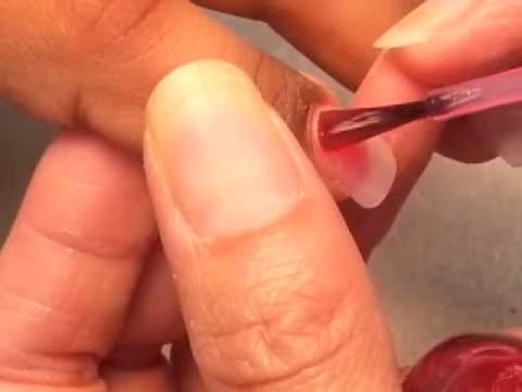 Acrylic nails, beautiful natural pink polish. - YouTube