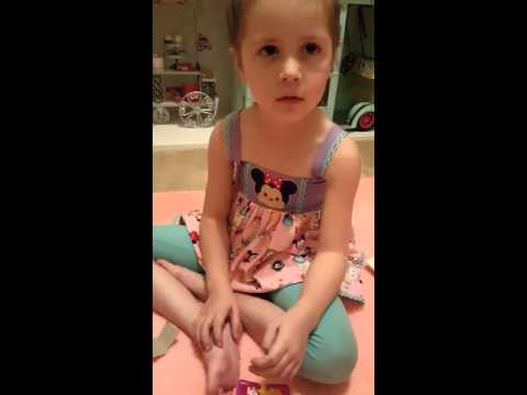 """My daughter opening her first shopkins """"Limited Edition"""""""