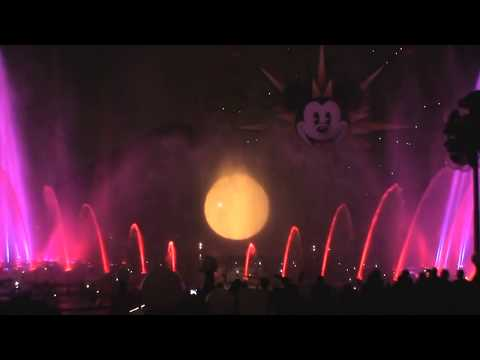 World of Color world premiere full show at the Disney California Adventure theme park