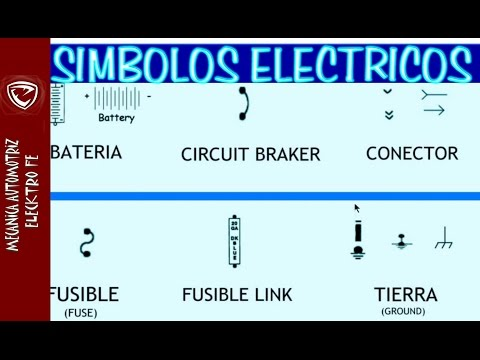 Simbolos Electricos Automotrices para leer DIAGRAMAS  (y codigos de colores)