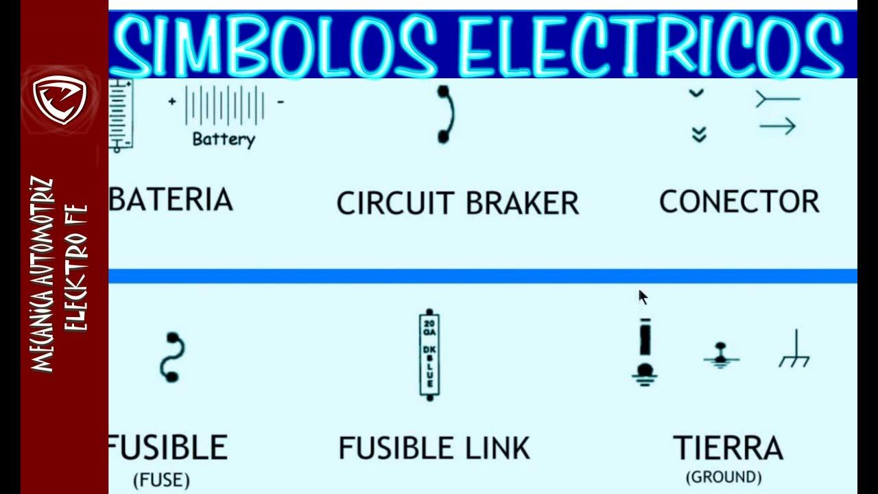 Simbolos Electricos Automotrices Para Leer Diagramas Y Codigos De Colores Youtube
