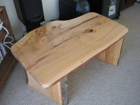 Modern How to build a timber slab table with no visible fixings using basic power tools & epoxy glue Plan - Contemporary tree slice coffee table Ideas