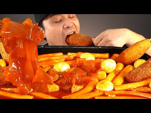 우리할매떡볶이(통가래떡)와 핫도그 먹방~!! 리얼사운드 ASMR social eating Mukbang(Eating Show)