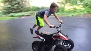 how to do tricks on a battery four wheeler
