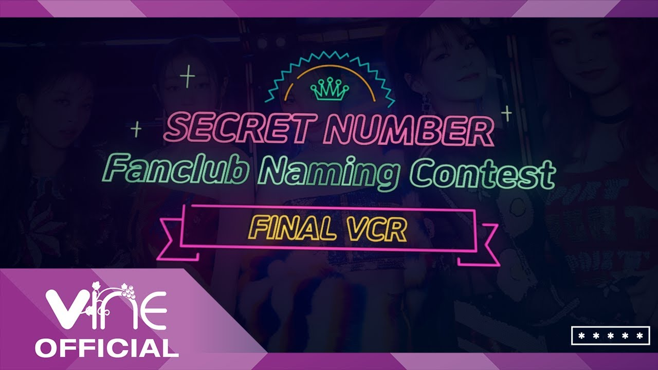 SECRET NUMBER Fanclub Naming Contest FINAL VCR (ENG SUB)