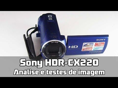 Filmadora Sony Handycam HDR-CX220: Análise e testes de imagem (PT-BR)
