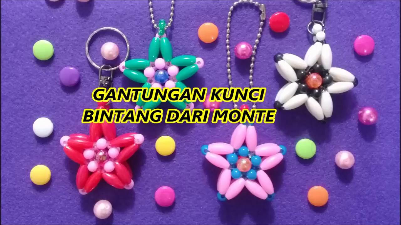 Souvenir Gantungan Kunci Bintang Dari Monte Beads Star Keychain Manik Manik Pelangi Shop