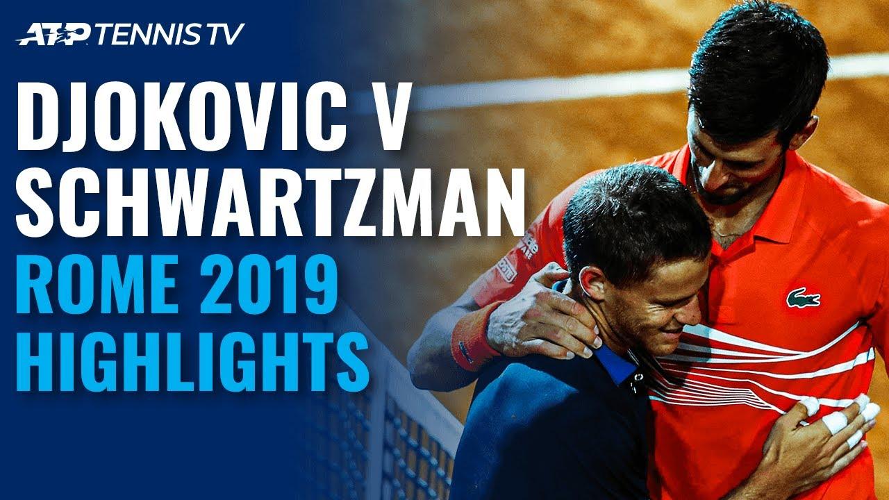 Novak Djokovic v Diego Schwartzman EPIC: Rome 2019 Highlights
