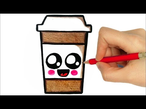 how-to-draw-a-cup-of-coffee/-como-desenhar-um-copo-de-café/-dibujar-una-taza-de-cafe/-dibujos-kawaii