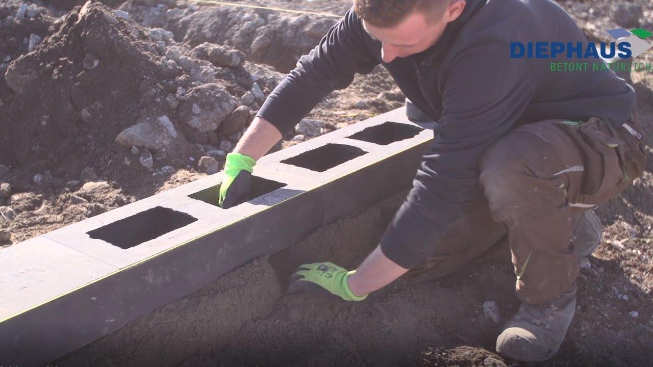 Die Lineo Mauer Von Diephaus Youtube Hohlsteine Fur Gartenmauer