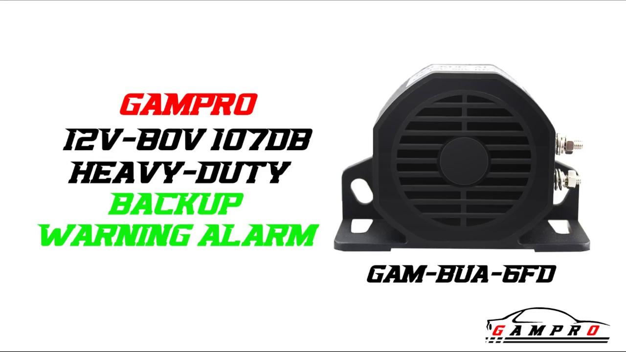 Gampro 12v 80v 107db Heavy Duty Backup Warning Alarm For Cars Youtube
