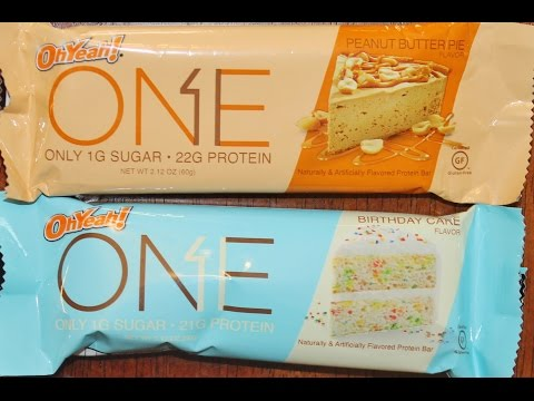 Oh Yeah! ONE Protein Bar: Peanut Butter Pie & Birthday Cake Review
